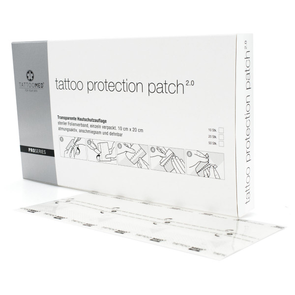 50 x (10 x 20cm) TattooMed® Tattoo Protection Patch - 2.0 PROSERIES