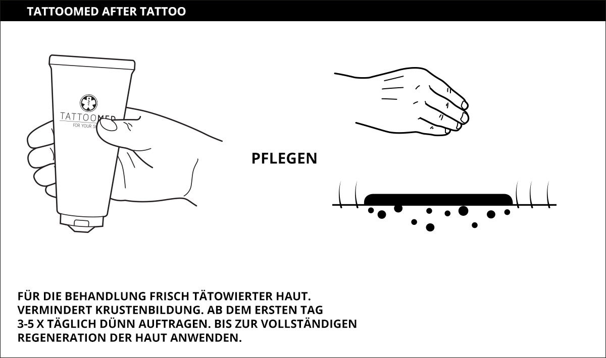 Erstverpflegung mit TattooMed after tattoo